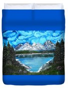 Deep Mountain Lake Duvet Cover
