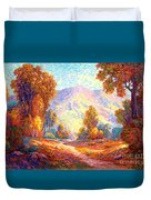 Radiant Peace, Colors Of Fall Duvet Cover