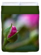 Deep Pink Rose Bud - Rose Bud Duvet Cover