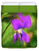 Deep Purple - Wildflower Art Duvet Cover