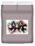 Deep Purple.rock Stars Duvet Cover