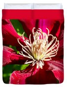 Deep Red Clematis Duvet Cover