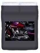 Deep Red Harley Duvet Cover