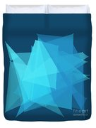 Deep Sea Polygon Pattern Duvet Cover