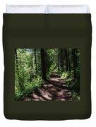 Deep Woods Road Duvet Cover