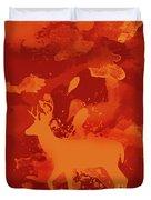 Deer Art Evening Duvet Cover
