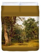 Deer At The Edge Of A Wood Duvet Cover