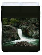 Deer Creek Falls Duvet Cover