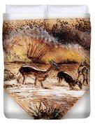 Deer Crossing Two Duvet Cover