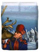 Deer Friends Of Finland Duvet Cover