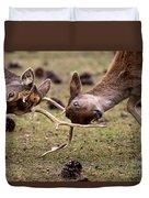Deer Games Duvet Cover