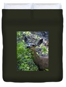 Deer Having Lunch Duvet Cover