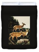 Deer In Forest Clearing Duvet Cover