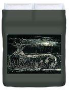 Deer In Moonlight Duvet Cover