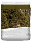 Deer In The Distance Duvet Cover