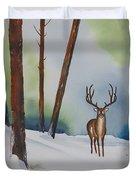 Deer In The Forest Duvet Cover