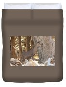 Deer On The Look Out Duvet Cover