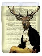 Deer Regency Portrait Duvet Cover