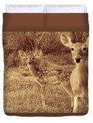 Deer Sepia V3 Duvet Cover