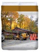 Deer Tractor  Duvet Cover