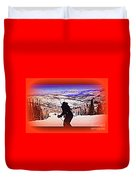 Deer Valley Utah Powder Duvet Cover