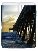 Deerfield Beach Pier At Sunrise Duvet Cover