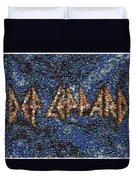 Def Leppard Albums Mosaic Duvet Cover by Paul Van Scott