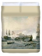 Defence Of The Havana Promontory  Duvet Cover by Rafael Monleon y Torres