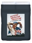 Defend American Freedom Duvet Cover
