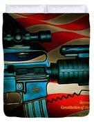 Defender Of Freedom - 2nd Ammendment Duvet Cover