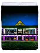 Defiance College Library Night View Duvet Cover