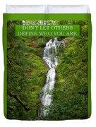 Define Yourself Duvet Cover