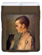 Degouve: Child & Owl, 1892 Duvet Cover