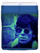Deja Blue Rolling Stones Bill Wyman Duvet Cover