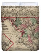 Delaware And Maryland Duvet Cover