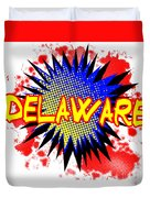 Delaware Comic Exclamation Duvet Cover