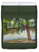 Delaware River At Washington's Crossing Duvet Cover