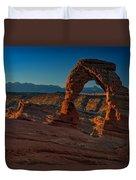 Delicate Arch At Sunrise Duvet Cover