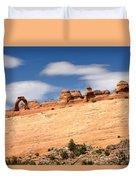 Delicate Arch Famous Landmark In Arches National Park Utah Duvet Cover