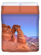 Delicate Arch Sunset Duvet Cover