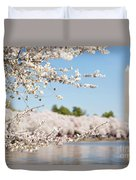 Delicate Blossoms Over The Tidal Basin Duvet Cover