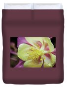 Delicate Columbine Nature Photograph Duvet Cover