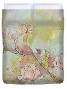 Delicate Magnolias Duvet Cover