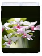 Delicate Orchids By Sharon Cummings Duvet Cover