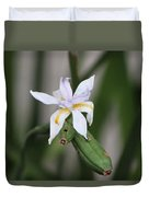 Delicate Pale Purple Iris Duvet Cover