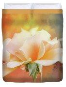 Delicate Rose On Color Splash Duvet Cover