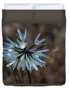 Delicate Silver Wildflower Duvet Cover