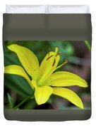 Delicate Yellow Oriental Lily Duvet Cover