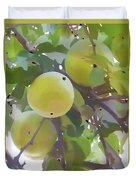 Delicious Yellow Apple In Summer Duvet Cover