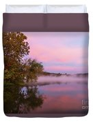 Delightfully Pink Morning Duvet Cover